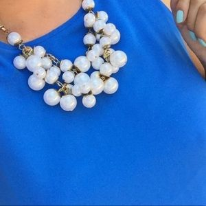 Chunky Pearls Statement Necklace